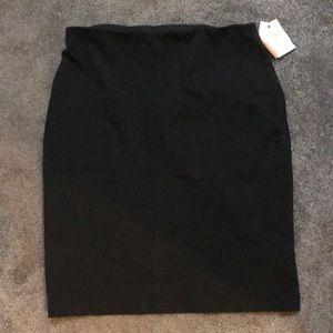 Black philosophy skirt business casual prof